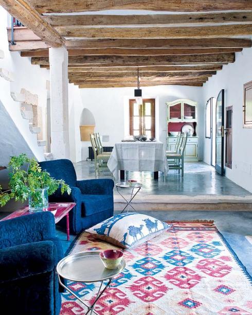 Decoraci n estilo mediterraneo - Salon mediterraneo ...
