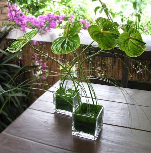Decoraci n con muebles de susana sanchez arreglos florales - Arreglo de terrazas ...