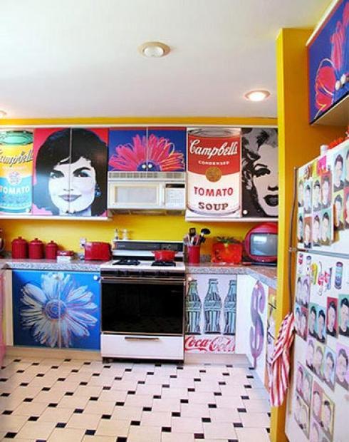 Decoraci n con muebles de proyectos vinilos for Muebles pop art